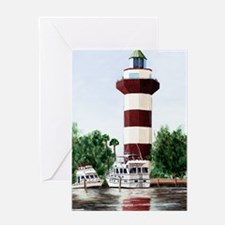 harbor light tall Greeting Card