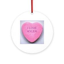 HEART KYLER Round Ornament