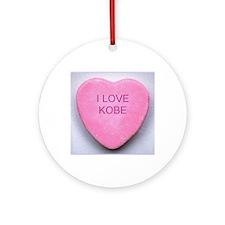 HEART KOBE Round Ornament