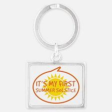 Babys First Summer Solstice Landscape Keychain