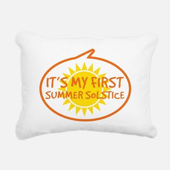 Babys First Summer Solst Rectangular Canvas Pillow