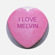 HEART MELVIN Round Ornament