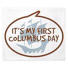 Babys First Columbus Day King Duvet