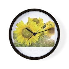 sunflowerblack Wall Clock