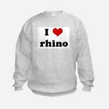 I Love rhino Sweatshirt