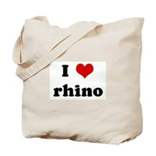 I Love rhino Tote Bag