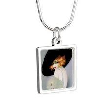 IPAD 3 ADA IPAD Silver Square Necklace