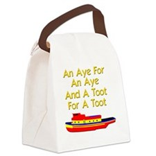 funny boat ship tugboat captain Canvas Lunch Bag