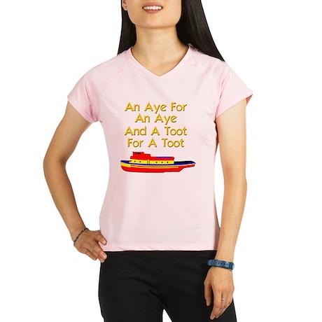 funny boat ship tugboat ca Performance Dry T-Shirt