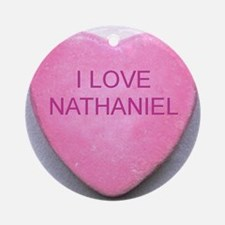 HEART NATHANIEL Round Ornament