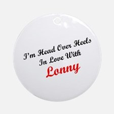 In Love with Lonny Ornament (Round)