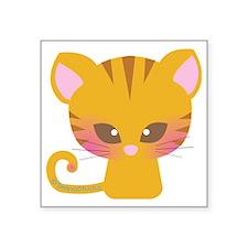 "yellow cat2 Square Sticker 3"" x 3"""