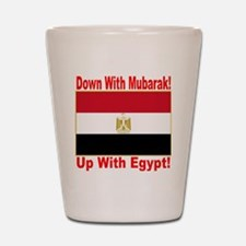 down_with_mubarak_up_with_egypt_transpa Shot Glass