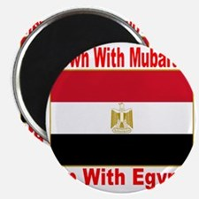 down_with_mubarak_up_with_egypt_transparent Magnet