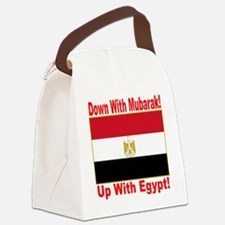 down_with_mubarak_up_with_egypt_t Canvas Lunch Bag