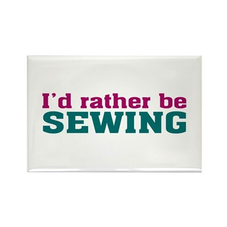 Rather be Sewing Rectangle Magnet