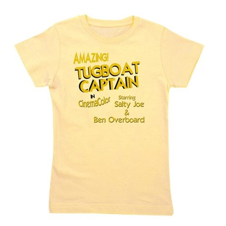 funny tugboat captain Girl's Tee