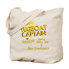 funny tugboat captain Tote Bag