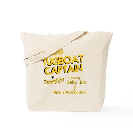 funny tugboat captain Tote Bag