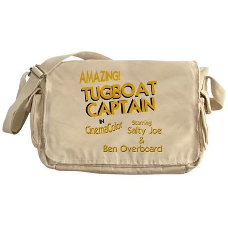 funny tugboat captain Messenger Bag