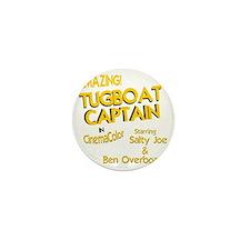 funny tugboat captain Mini Button
