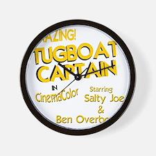 funny tugboat captain Wall Clock