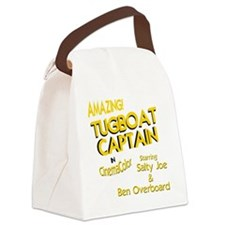 funny tugboat captain Canvas Lunch Bag