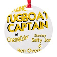 funny tugboat captain Ornament