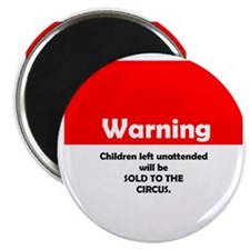 ChildWarning-3lapel Magnet