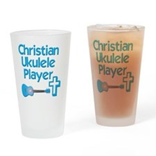 Christian Ukulele Player Drinking Glass