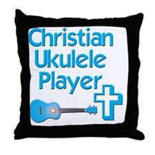 Christian Ukulele Player Throw Pillow