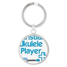 Christian Ukulele Player Round Keychain