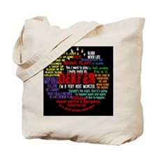 dextercollagebutton Tote Bag