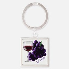 vino_10by10 Square Keychain