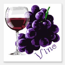 "vino_10by10 Square Car Magnet 3"" x 3"""