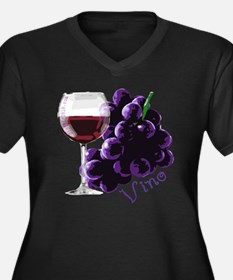 vino_10by10 Women's Plus Size Dark V-Neck T-Shirt