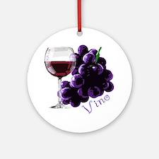 vino_10by10 Round Ornament
