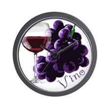 vino_10by10 Wall Clock