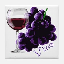 vino_10by10 Tile Coaster