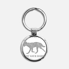dingog Round Keychain