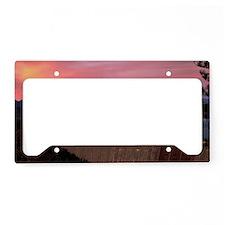 Mt. Shasta Sunset Yard sign License Plate Holder