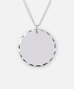 D Fencing White Necklace