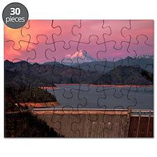 Mt. Shasta Round Wall Clock Puzzle