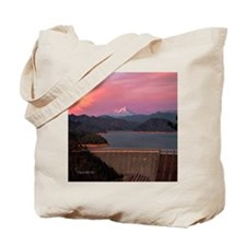 Mt. Shasta Round Wall Clock Tote Bag