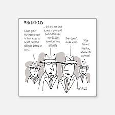 "MEN_Health Care_Guns_Leader Square Sticker 3"" x 3"""