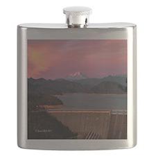 Mt. Shasta Round Wall Clock Flask