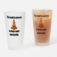 road to success Drinking Glass