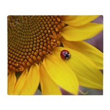 Mousepad Ladybug Throw Blanket