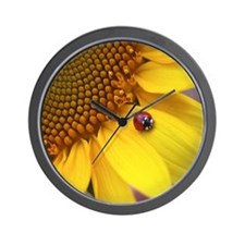 Mousepad Ladybug Wall Clock