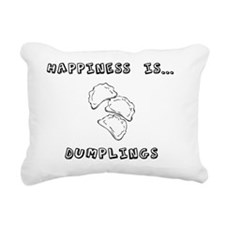 Happiness is dumplings Rectangular Canvas Pillow